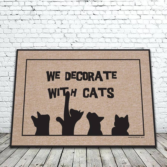 We Decorate With Cats Mat