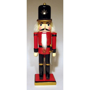 "12"" Classic Red & Black Nutcracker"