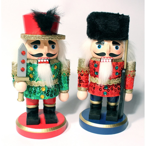 "7"" Chubby Sequined Nutcrackers"