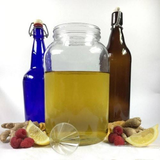 Artisan DIY Kombucha 2 Gallon Brewing Kit Learn How to Make Home Made with Probiotic scoby to Improve Digestion