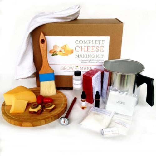 Complete DIY Cheese Making Kit - make mozzarella, ricotta, colby, gouda, and Monterey jack.