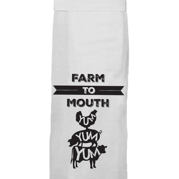 Farm to Mouth Hang Tight Towel