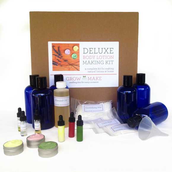 Deluxe DIY Body Lotion Making Kit - Learn how to make home made natural body lotions