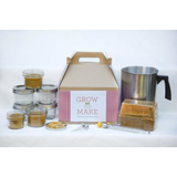 Deluxe DIY Beeswax Large Mason Jar Candle Making Kit - Makes 6 8oz Candles