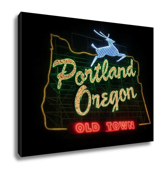 Gallery Wrapped Canvas, Historic Portland Oregon Old Town Sign