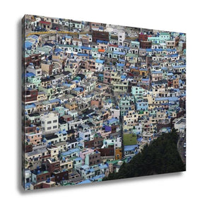 Gallery Wrapped Canvas, Downtown Cityscape Of Busan