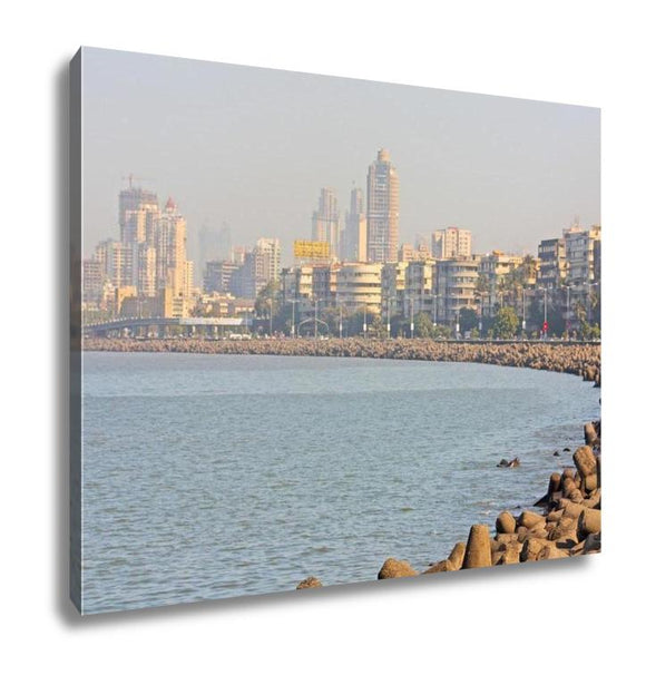 Gallery Wrapped Canvas, Mumbai Capital Of India Skyline