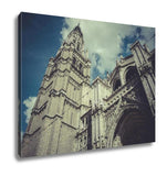 Gallery Wrapped Canvas, Toledo Cathedral Facade Spanish Church