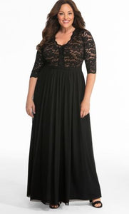 Jasmine Lace Evening Gown ONYX