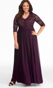 Jasmine Lace Evening Gown IMPERIAL PLUM