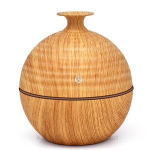 USB Evaporative Humidifie 130ml Aroma Diffuser Essential Oil Diffuser Aromatherapy mist maker with 7 color LED Light  Wood grain