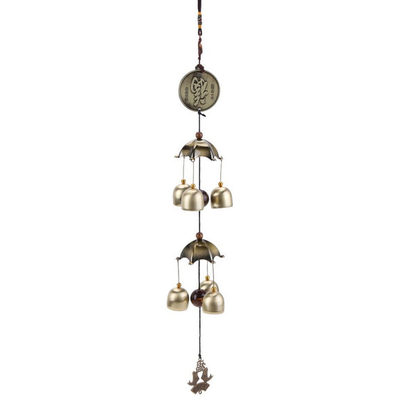 1 Pcs Buddha Statue Pattern Bell Blessing Feng Shui Wind Chime for Good Luck Fortune Home Car Hanging Decor Gift Crafts