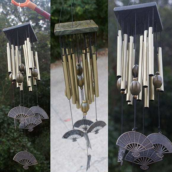 Retro Style Wind Chimes 12 Aluminum Tubes Wind Bells Living Room Yard Garden Home Decoration Wind Chimes & Hanging Decorations