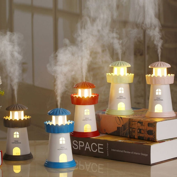 150ml Lamp Lighthouse Humidifier USB Led Air Diffuser Purifier Atomizer Tower Essential oil diffuser for Home difusor de aroma