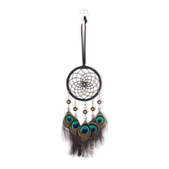 New Fashion Jewelry Big Hot Dreamcatcher Wind Chimes Indian Style Natural Peacock Feather Pendant Dream Catcher Gift  Wedding De