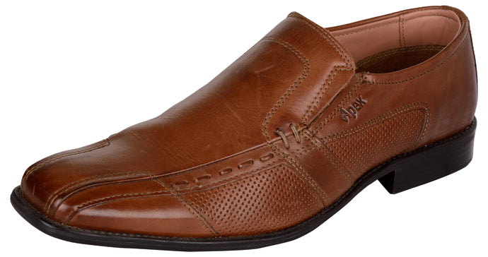 Venturini Men's Brown Leather Slip On Loafers