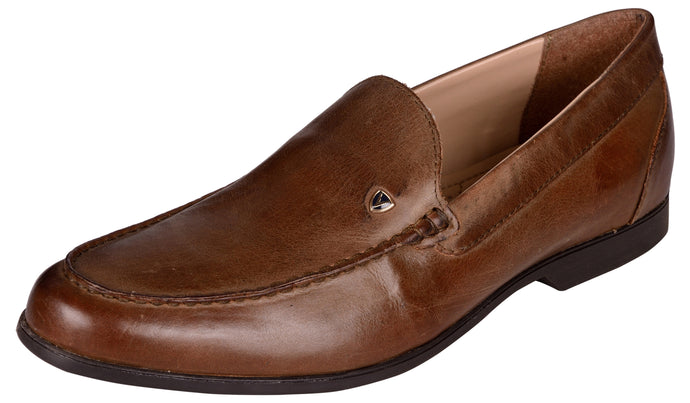 Venturini Men's Brown Leather Loafers