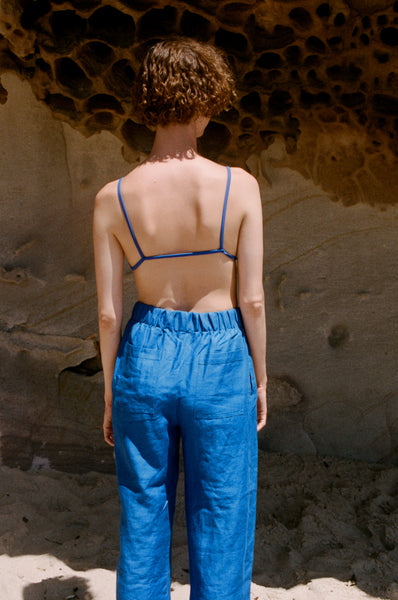 Scrunchie Pants — Electric Blue