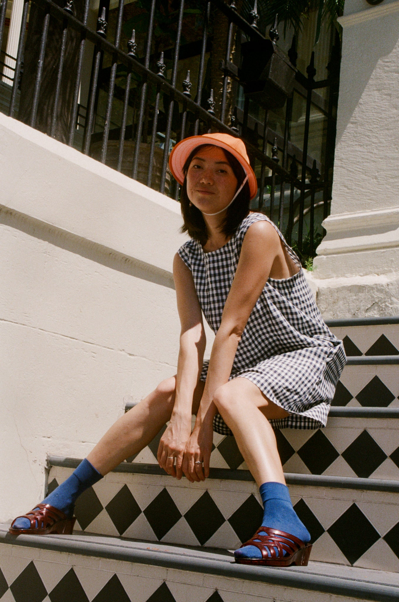 Pinafore — Small Navy Check