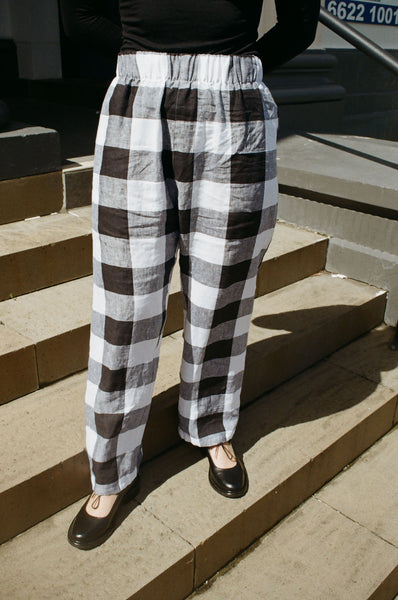 Scrunchie Pants — Giant Gingham
