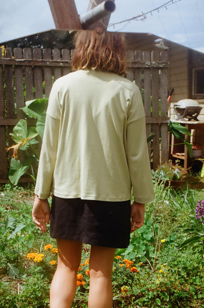 Long Sleeve Big Tee — Pistachio Green