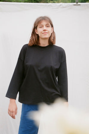 Long Sleeve Big Tee — Black