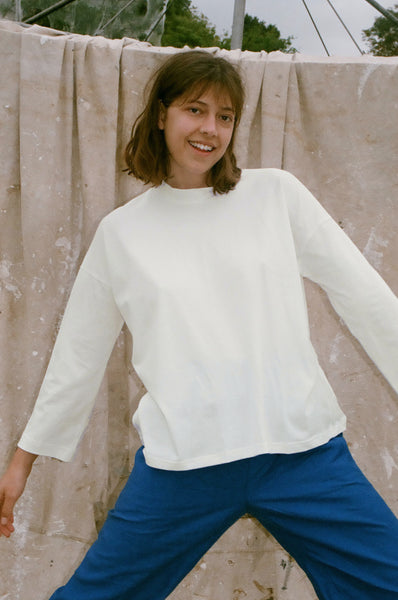 Long Sleeve Big Tee — Off White