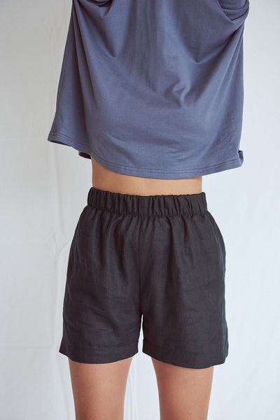 Black Scrunchie Shorts