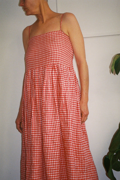Pre Order — Red Check Sun Dress