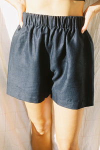 Scrunchie Shorts — Black