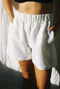 Scrunchie Shorts — Off White