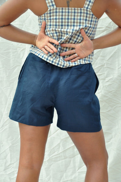 Scrunchie Shorts — Deep Sea