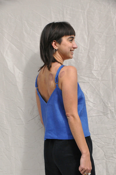 Strappy Top — Blue