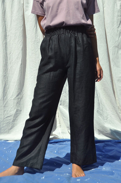 Scrunchie pants — Black