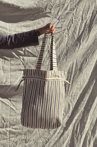 Scrunchie Tote Bag — Alfresco Stripe