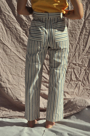 Pleat Pants — Alfresco Stripe