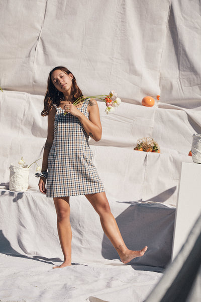Fitted Dress — Alfresco Check