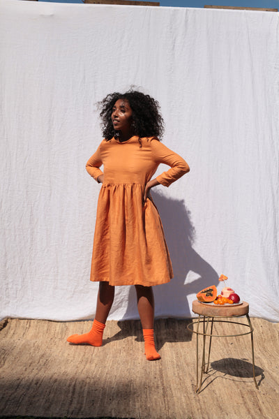 Tangerine Scrunchie Dress
