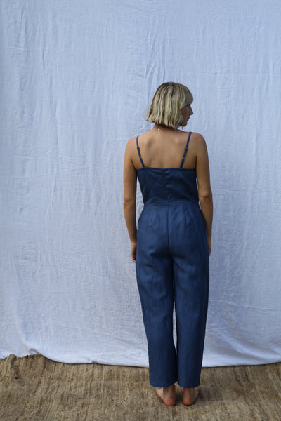 Ocean Fitted Strappy Jumpsuit