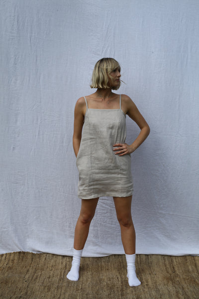 Pearl Strappy Mini Dress