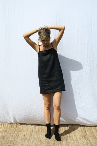 Black Strappy Mini Dress