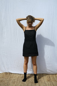 Black Fitted Strappy Dress