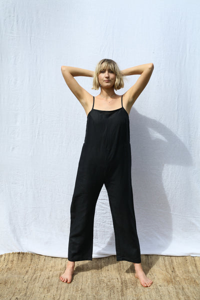 Black Strappy Jumpsuit