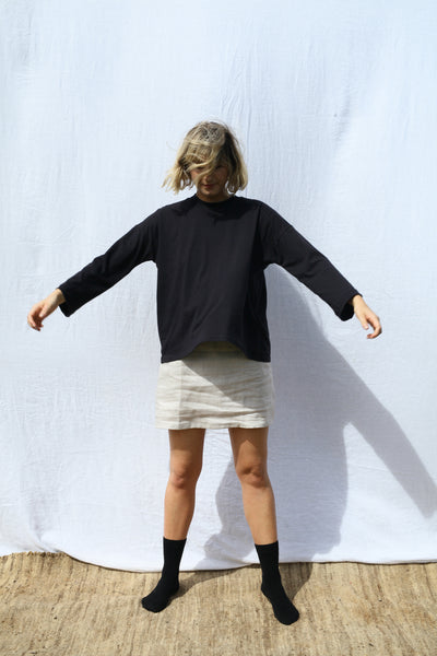 Black Long Sleeve Big Tee