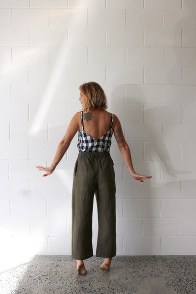 Olive Scrunchie Pants