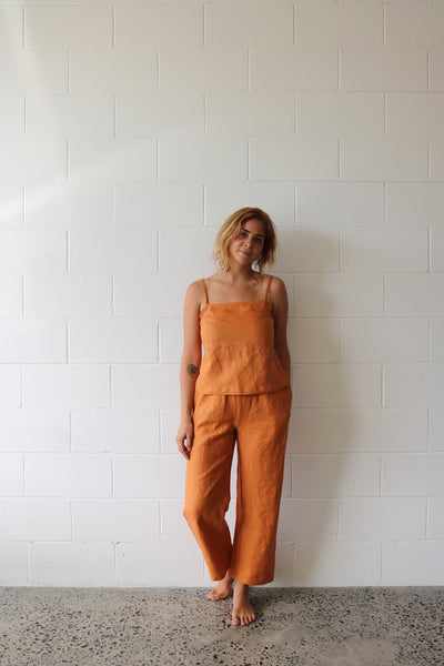 Tangerine Strappy Top