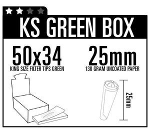King Size Filter Tips Green