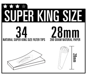Super King Size Filter Tips Natural