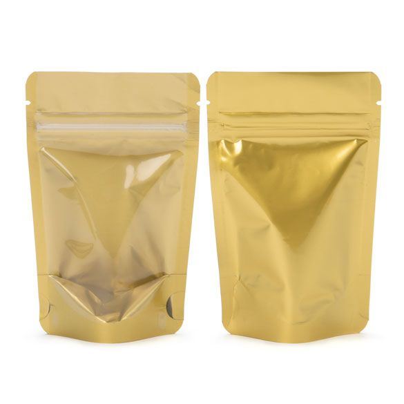 Zipper Bag Pouches, Gold - 8x5x13 cm (100 pcs.)