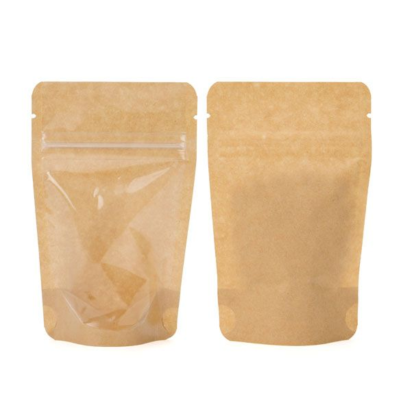 Zipper Bag Pouches, Kraft - 8x5x13 cm (100 pcs.)
